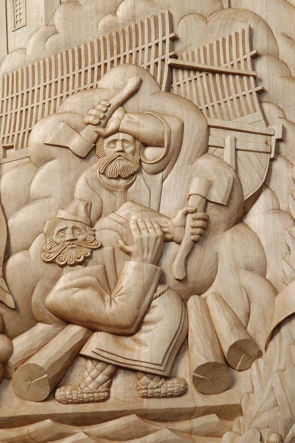 картинки резьба по древесине гофрированных