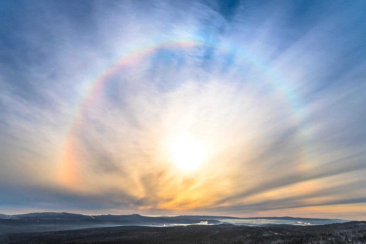 картинка радуга зимой пришвин снимал природу