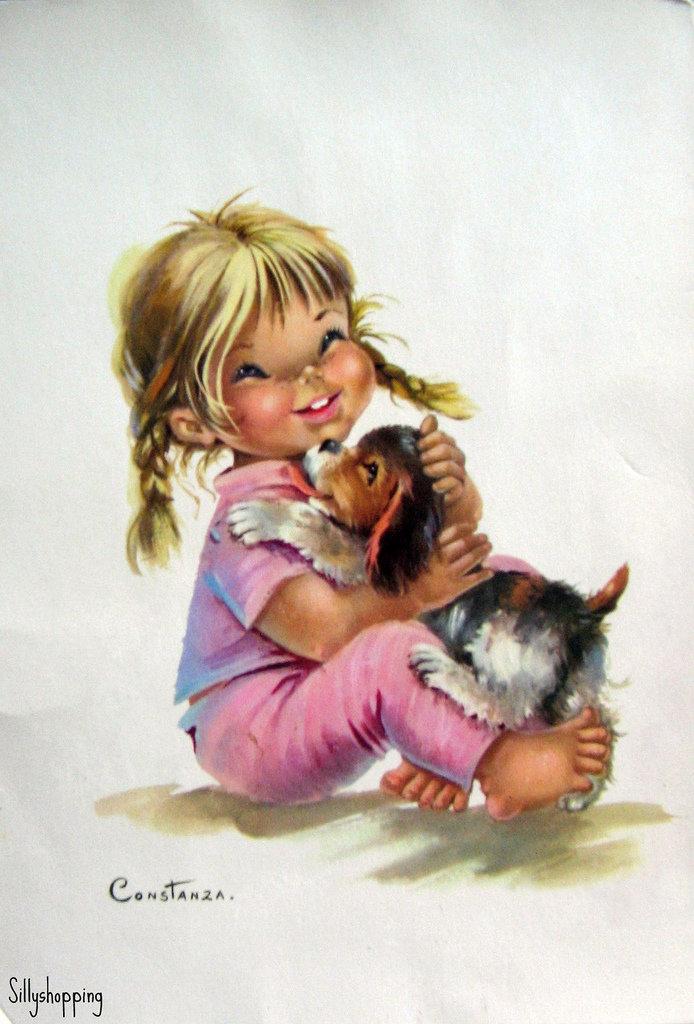 Рисованные открытки с детьми, своими руками
