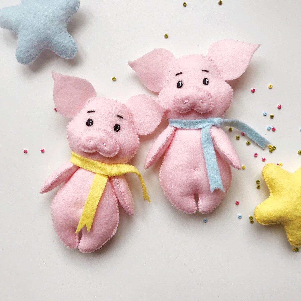 Поросёнок елочная новогодняя игрушка год свиньи 2019 символ