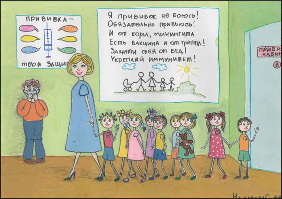 Картинки про прививку детские