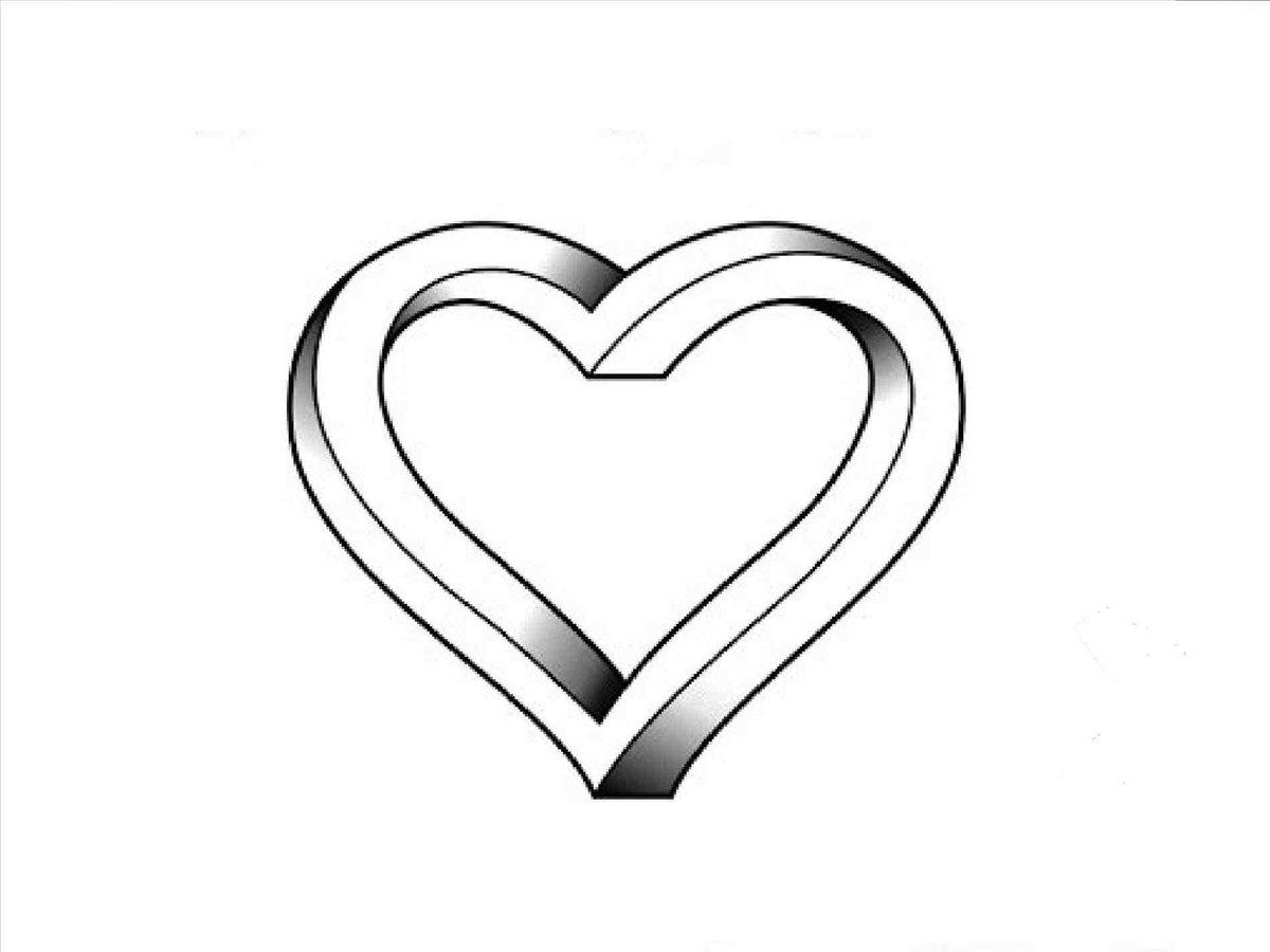 Картинки сердце нарисованное карандашом