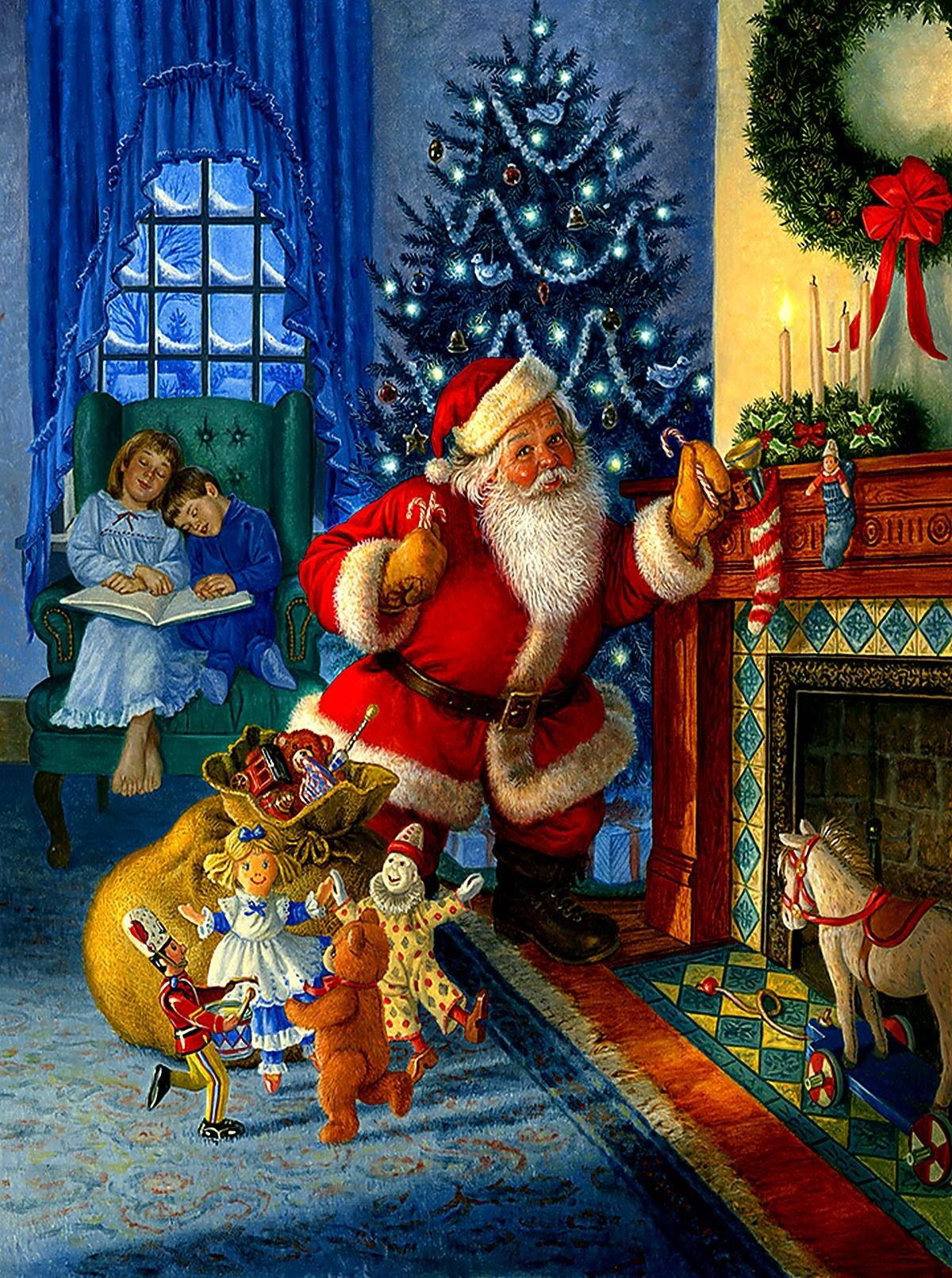 Новый год сказка открытка