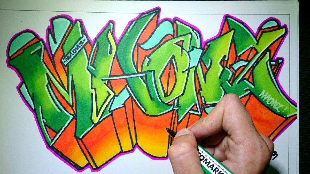 Фото граффити для начинающего или широкий