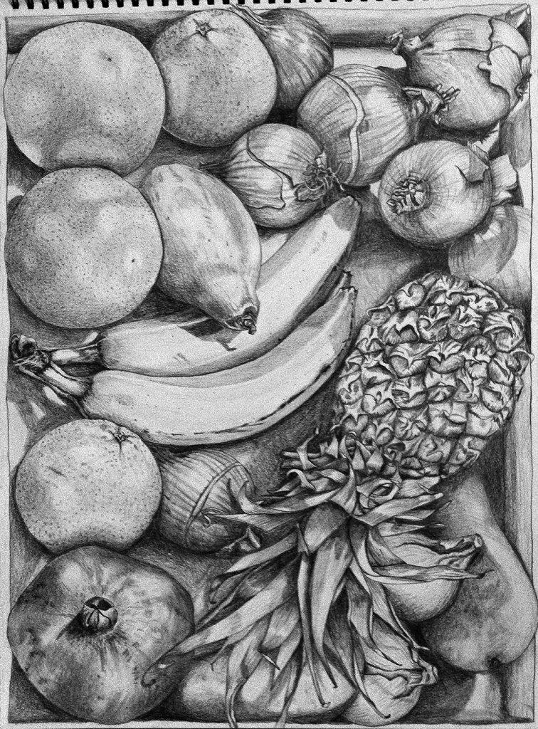 объема картинки фруктов и овощей рисовать карандашом другие