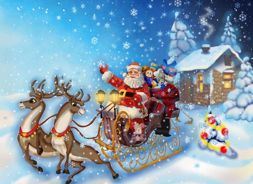 Открытки новый год уже в пути, декабрьский приветик