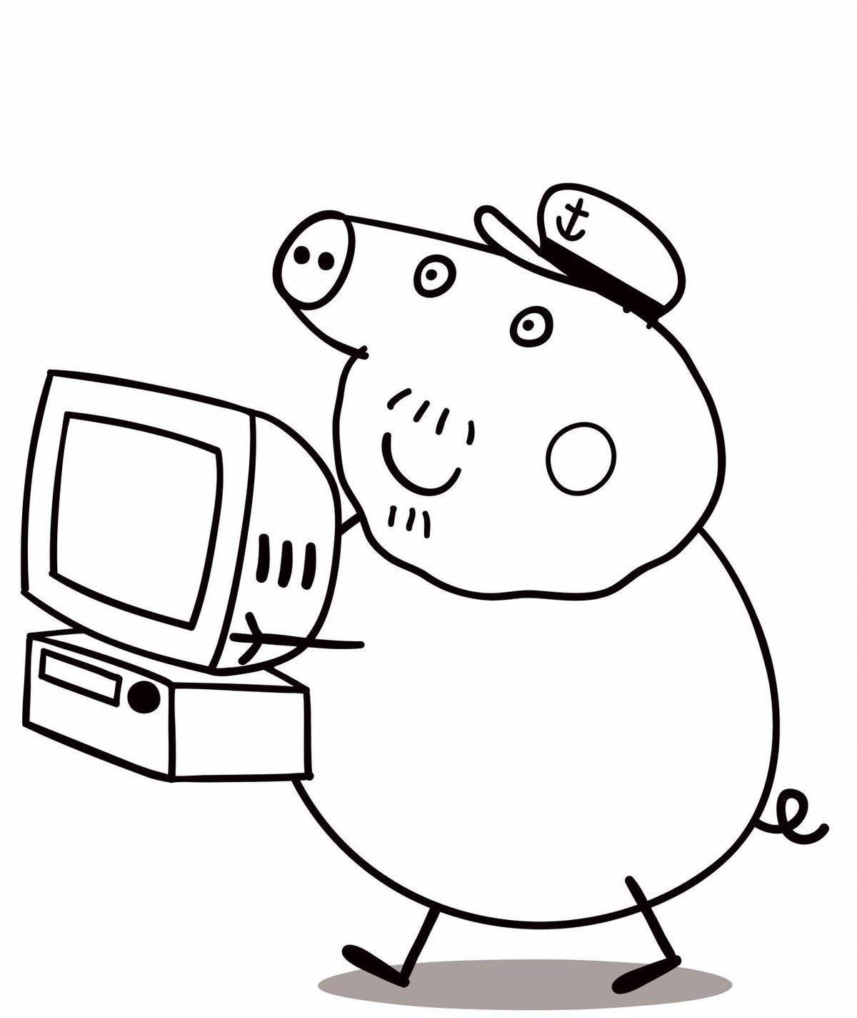 Раскрашивать картинки на компьютере детям 3-4 лет, икона