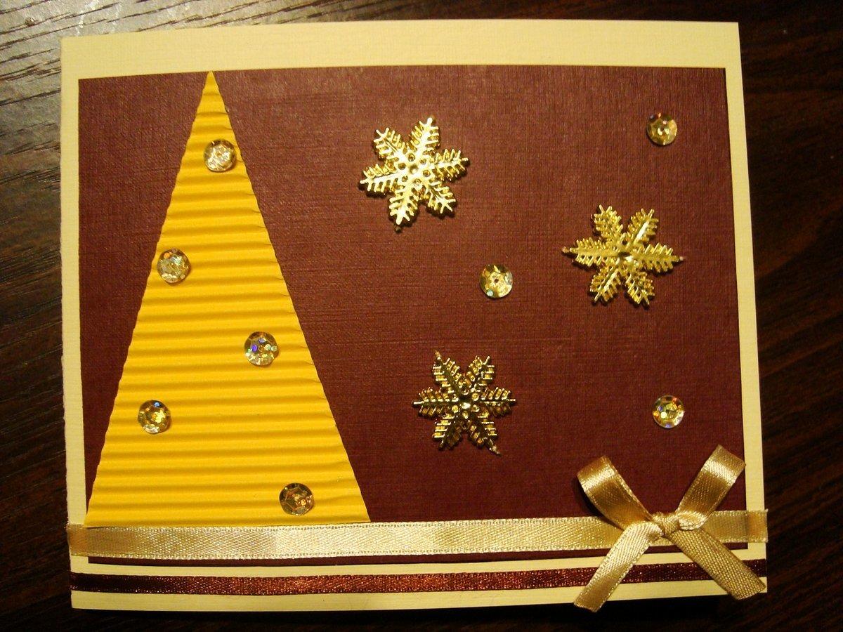 Что можно сделать внутри открытки рождественской