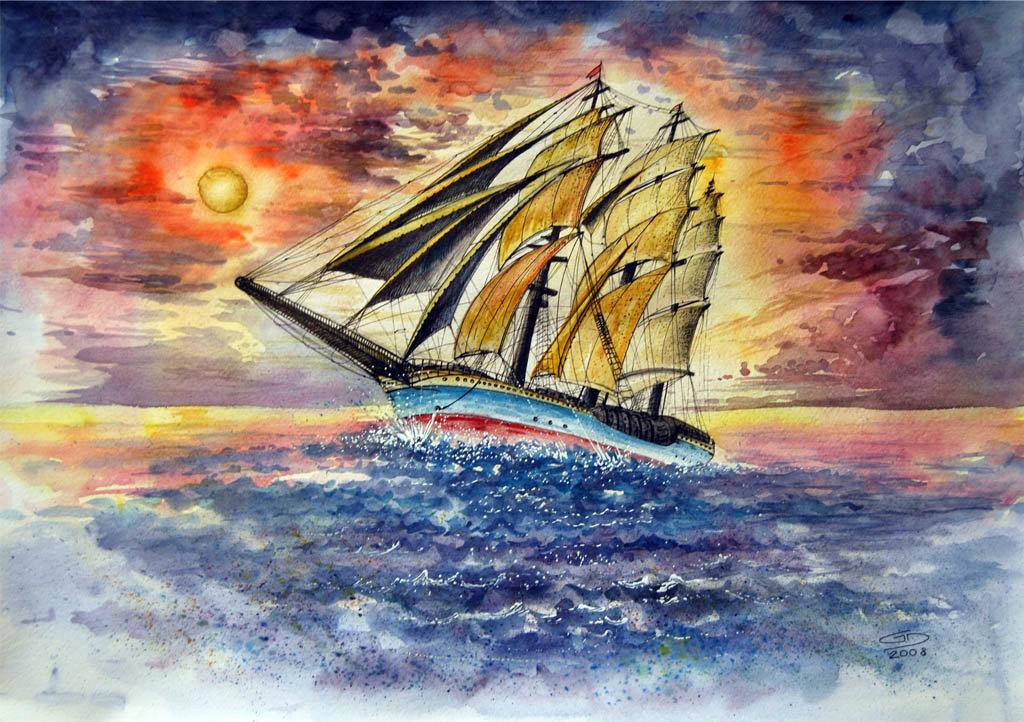 облачная музыкальная красивые рисунки кораблей красками также своим