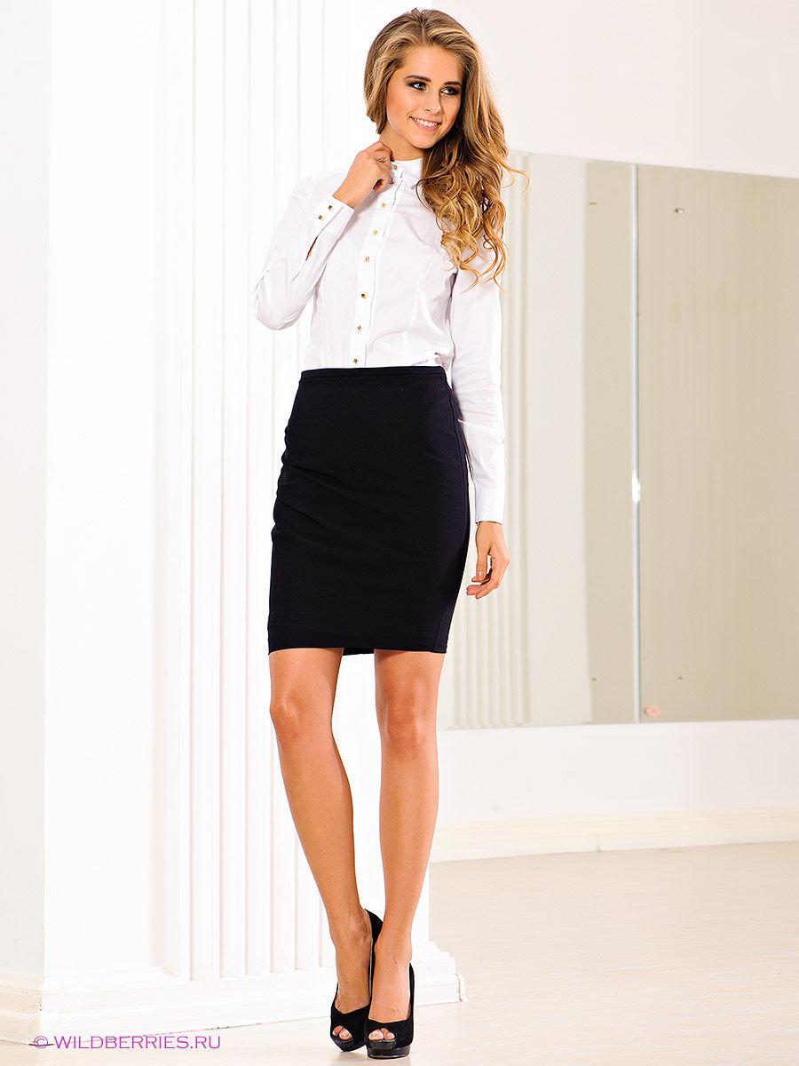 Девчонки в черных юбках и белых рубашках — pic 12