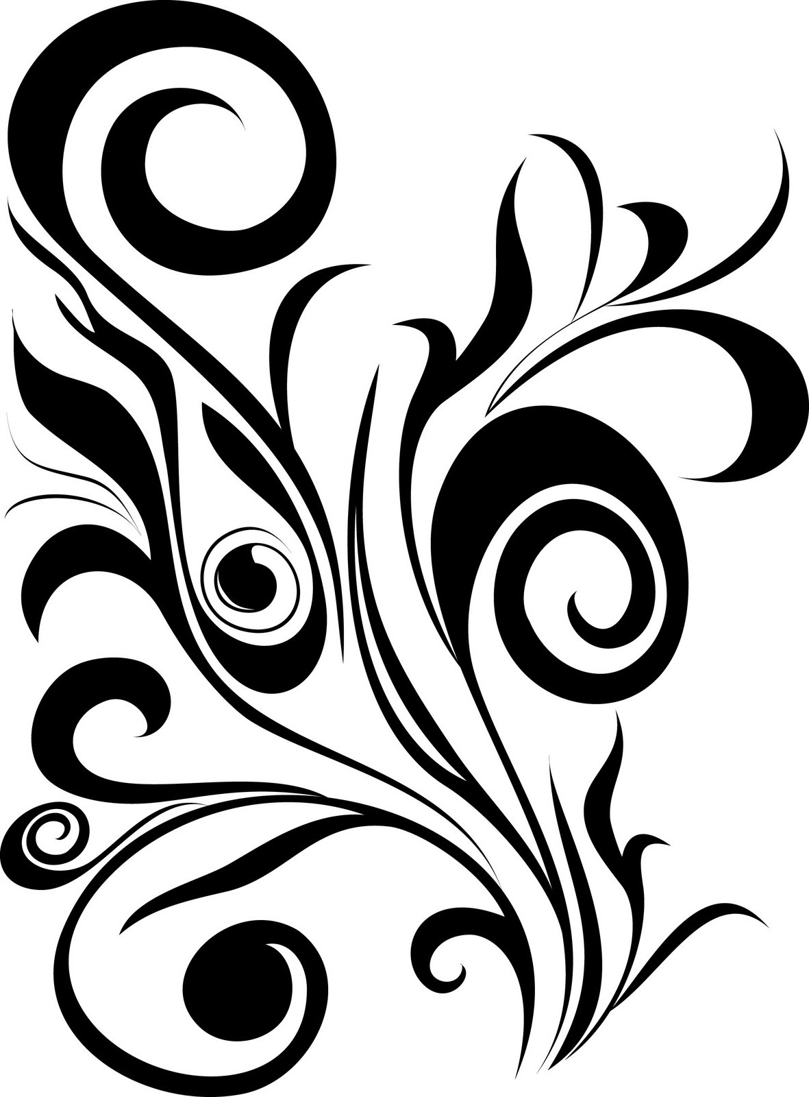simple swirl vector - HD1181×1600