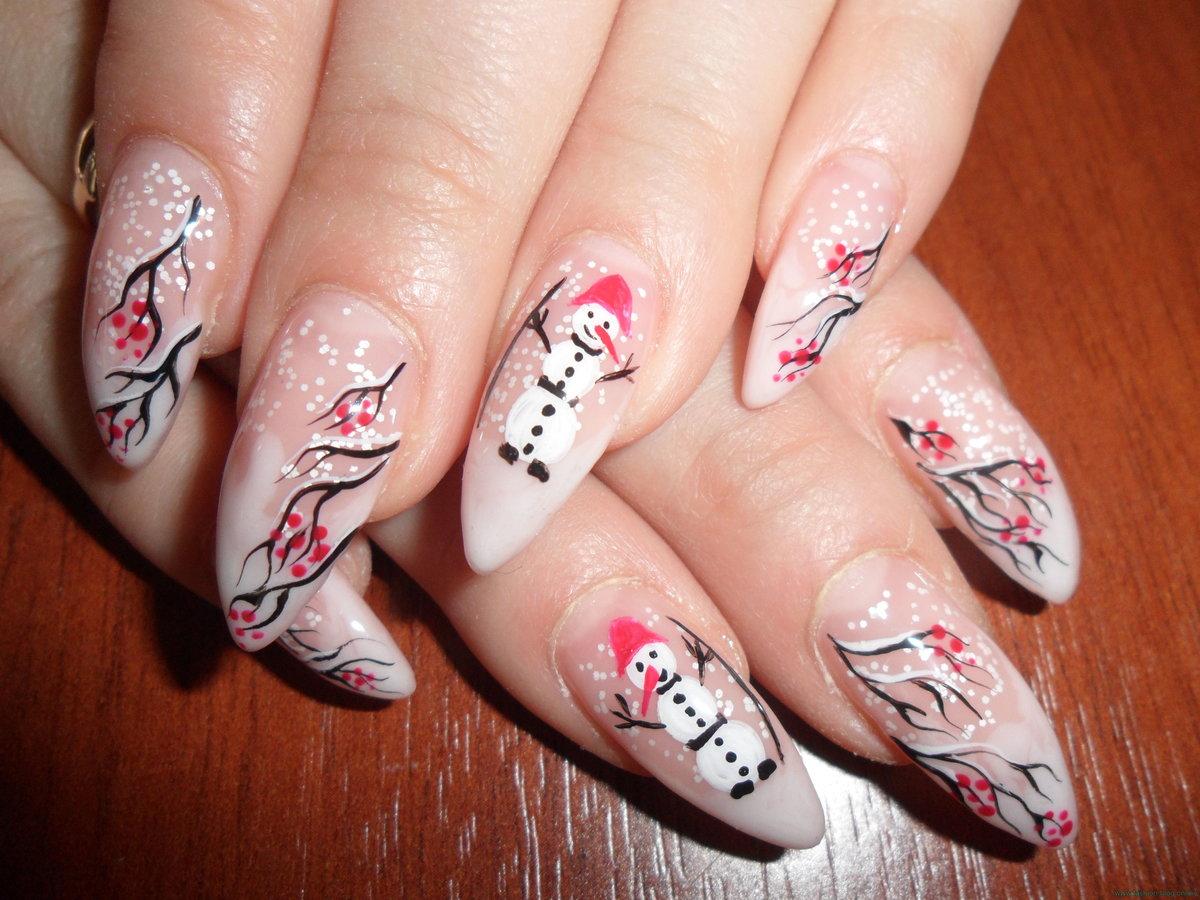 картинки нарощенных ногтей с рисунком зимы счет того что