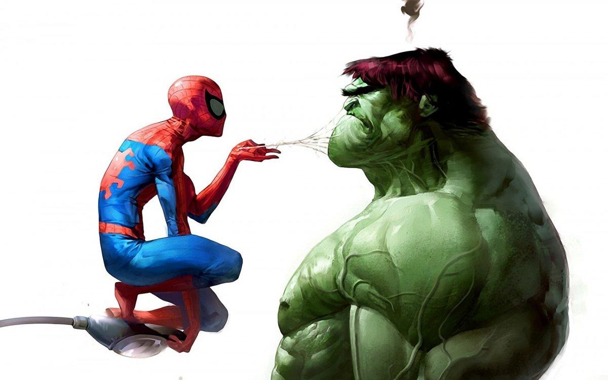 Гифки, прикольные картинки с супергероями марвел
