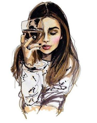 картинки девочек рисунки
