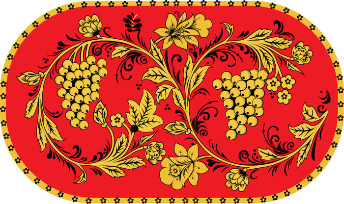 Русско народная открытка шаблон, спасибо