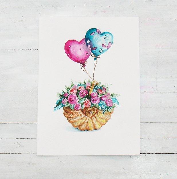 Рисунки к открыткам