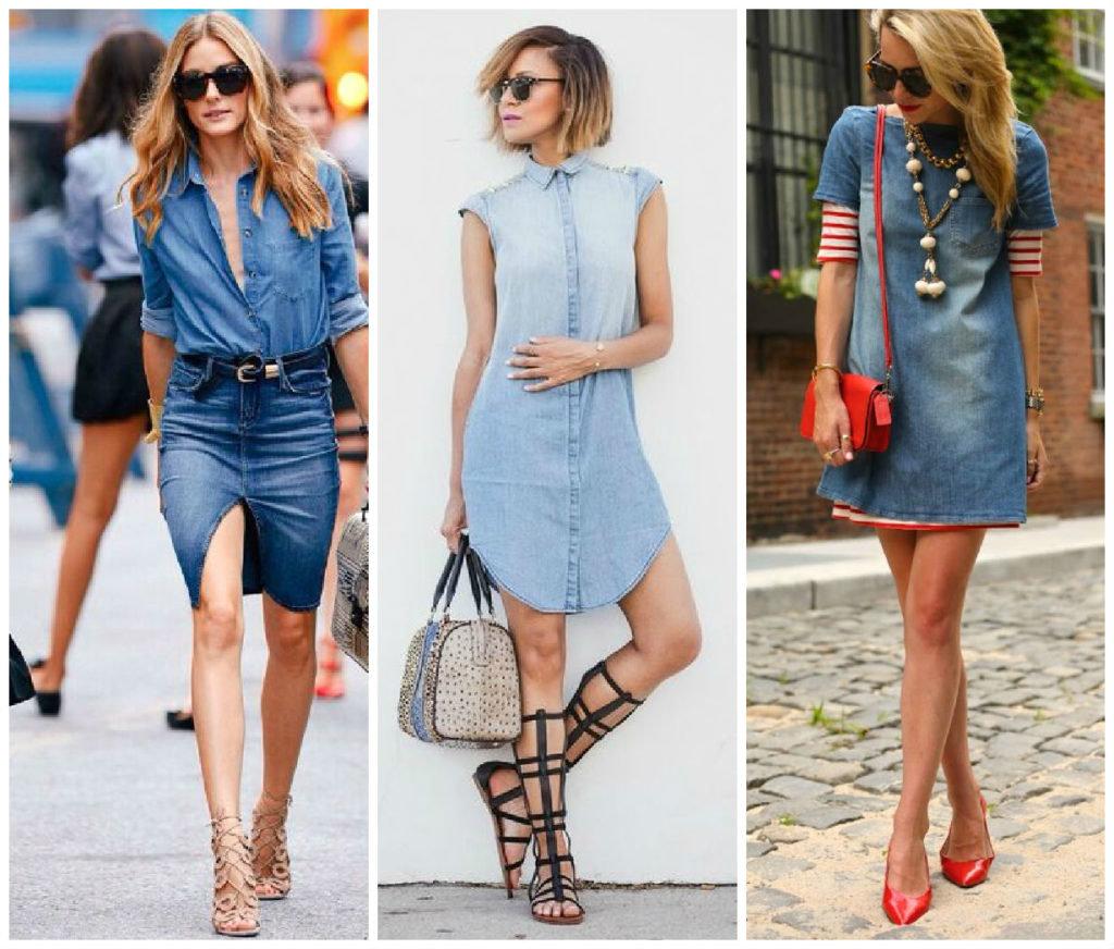 принципа с чем одеть джинсовое платье фото расскажу том, как