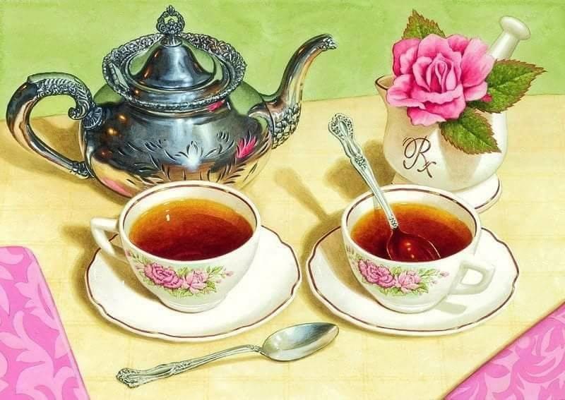 Пей чай открытки