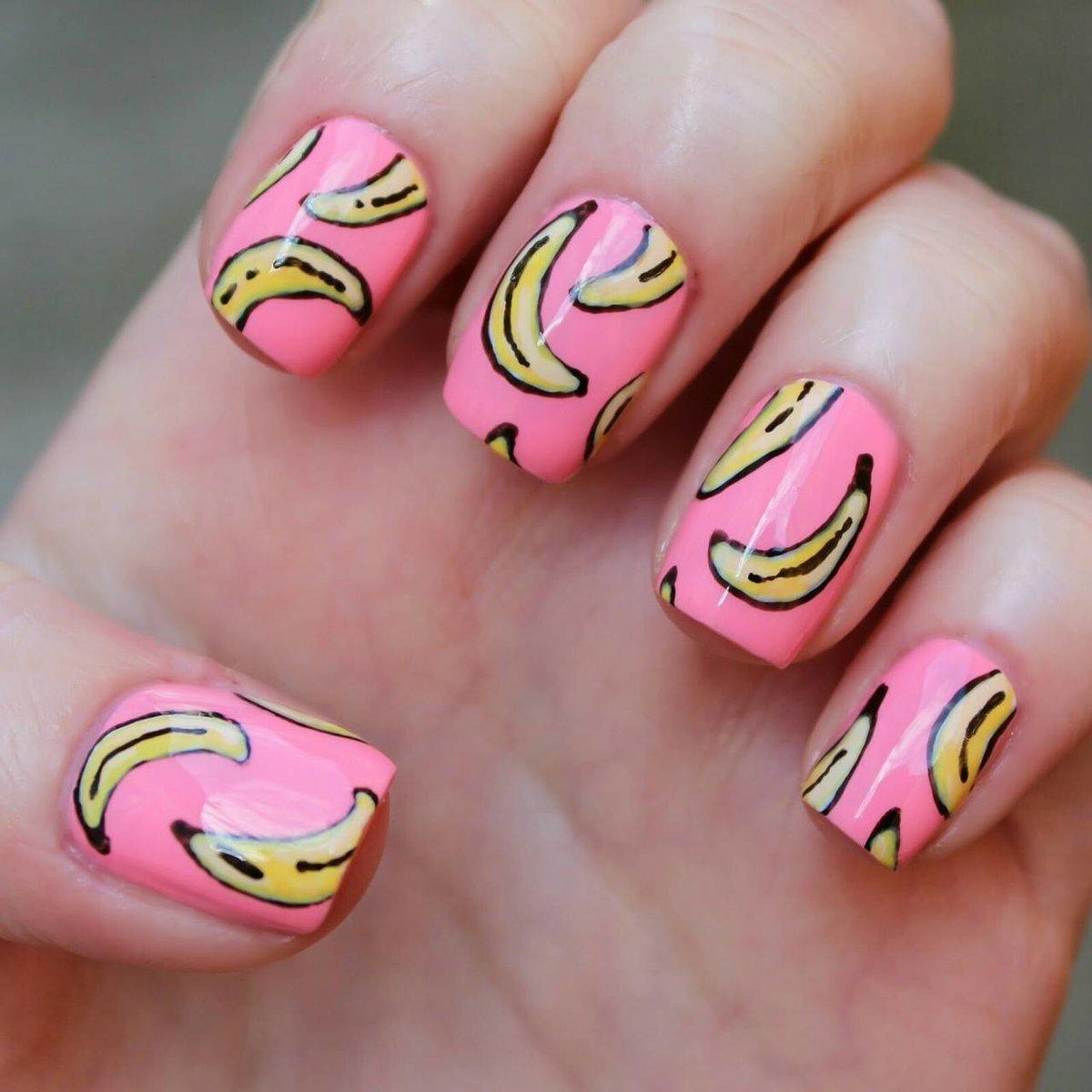стекле картинка банана на ноготь ещё контактные линзы