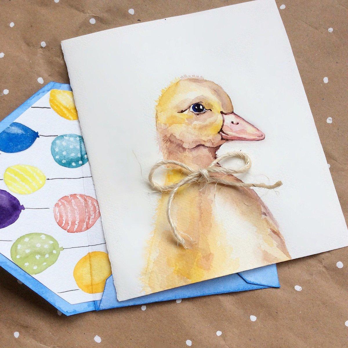 Красивая открытка акварель