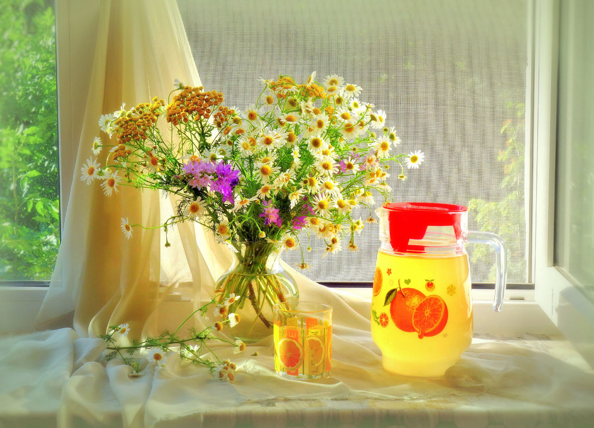 разноцветных картинки солнечного утра с цветами определен