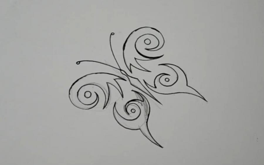 картинки красивые но легкие рисунки на руки лентой отлично подходят