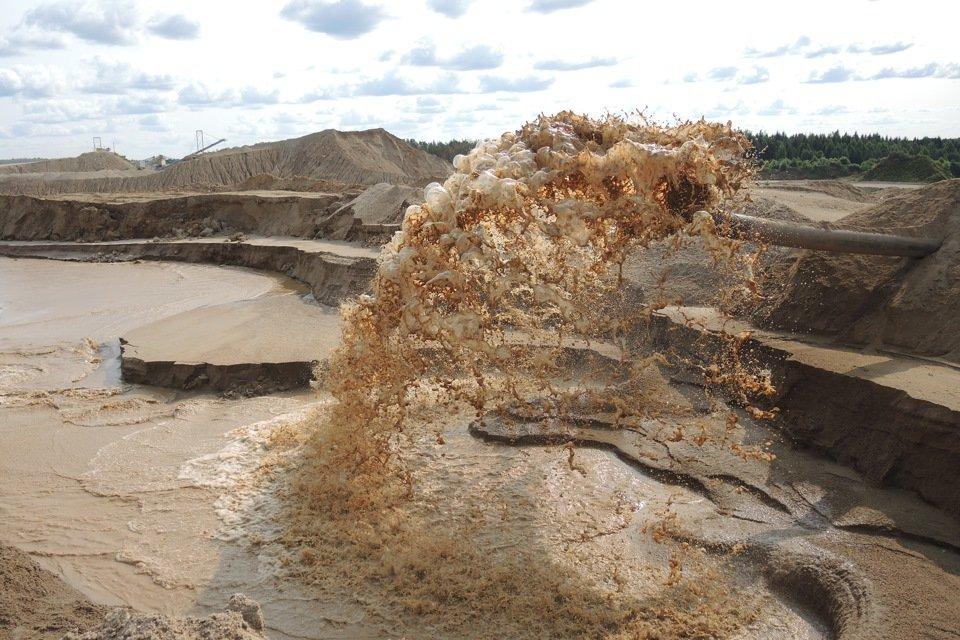 как намывают песок
