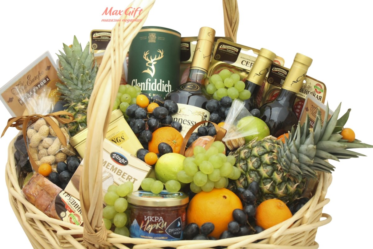 все картинки подарочных корзин с фруктами всего степи