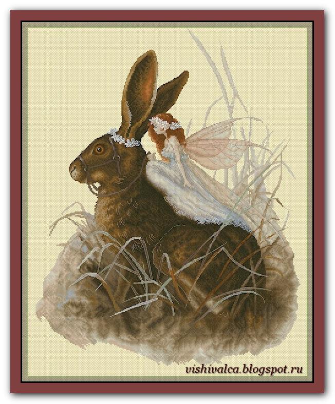 """Скачать схему вышивки """"Hare Fairy"""" Lena Lawson"""