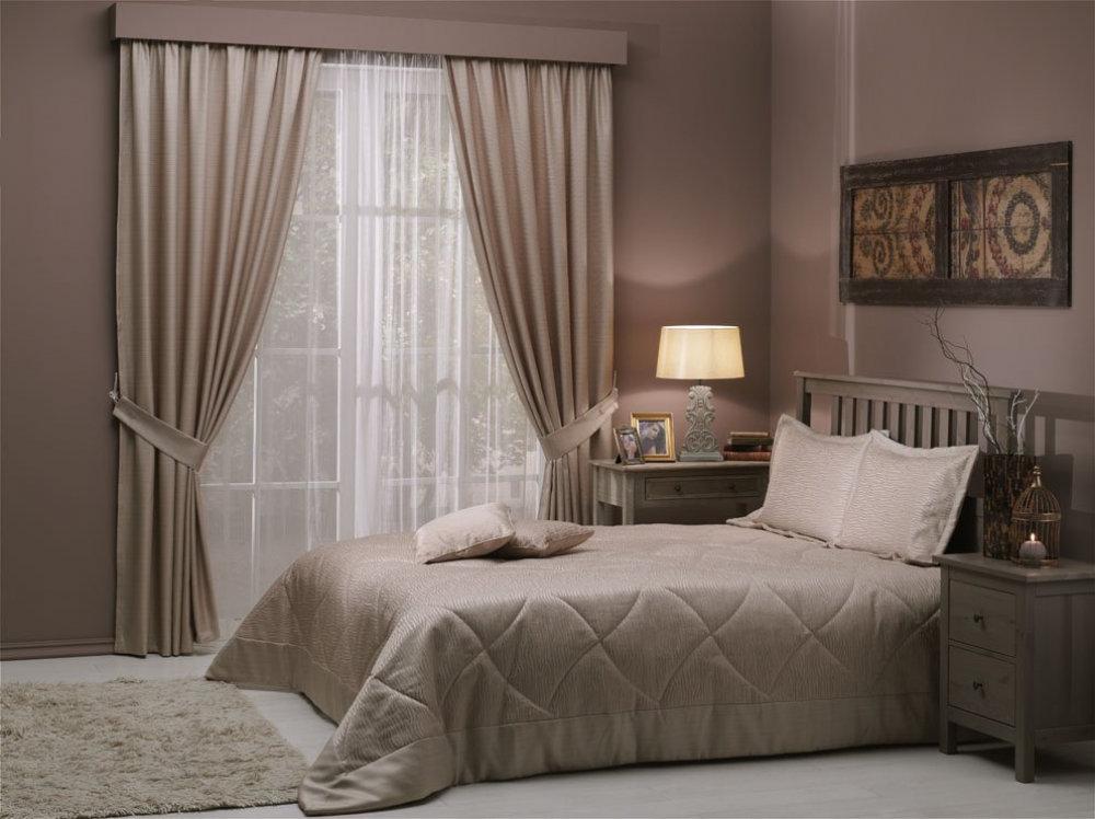 Комплекты покрывала шторы в спальню в картинках