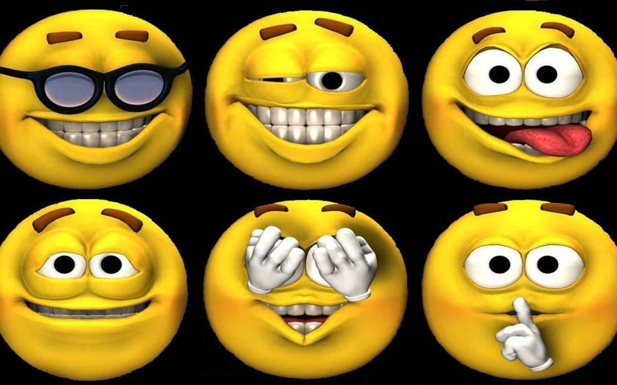 Прикольные картинки улыбающихся смайликов