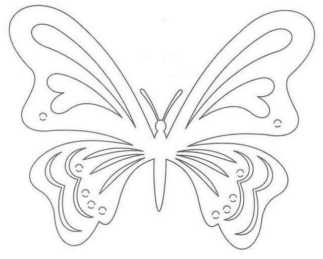 Поздравлением, открытка бабочка шаблон