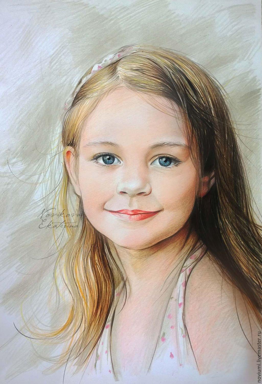 Детские портреты в открытках, днем