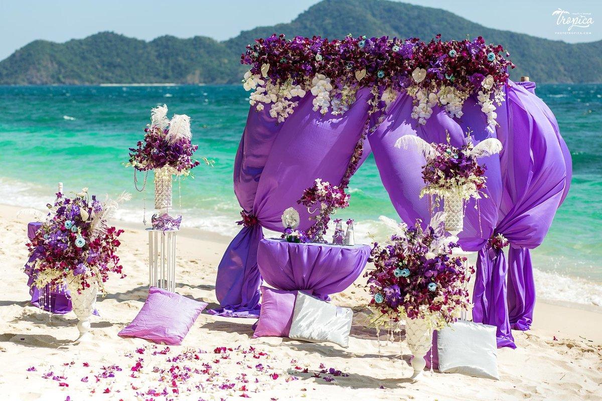 Картинки фиолетовой свадьбы