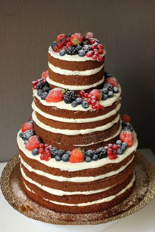 Открытый торт с фруктами фото
