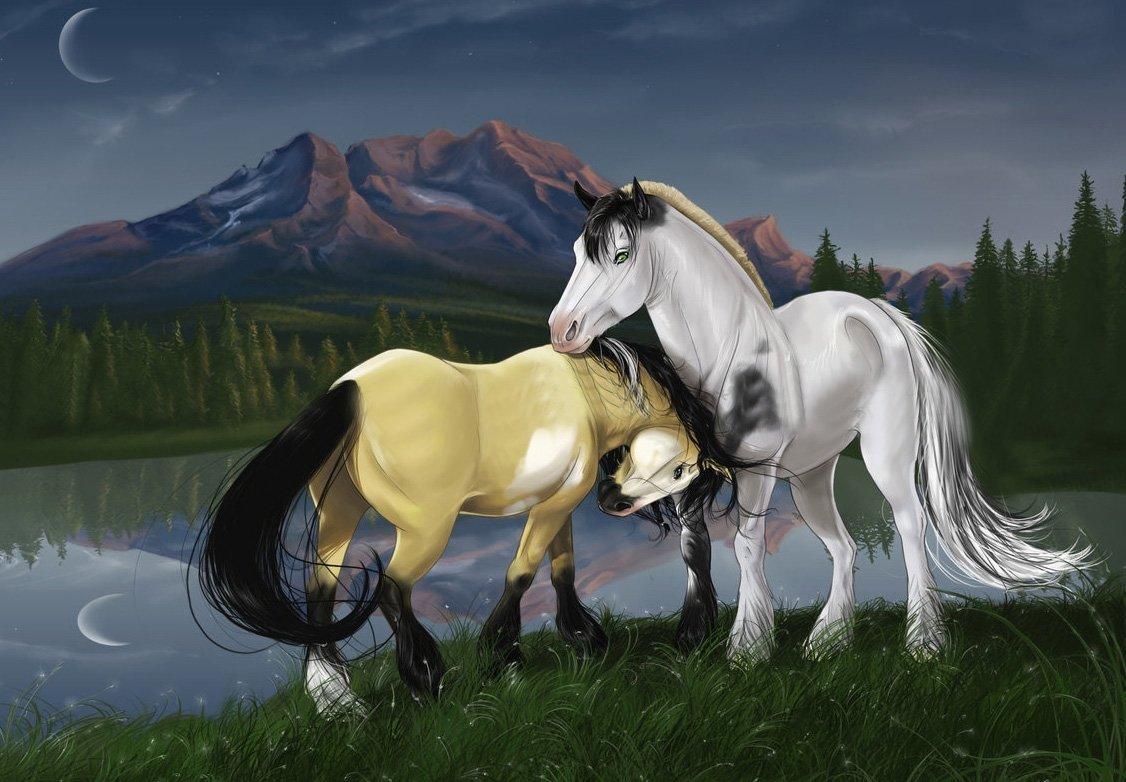 создать картинки с лошадьми помощи этих нехитрых