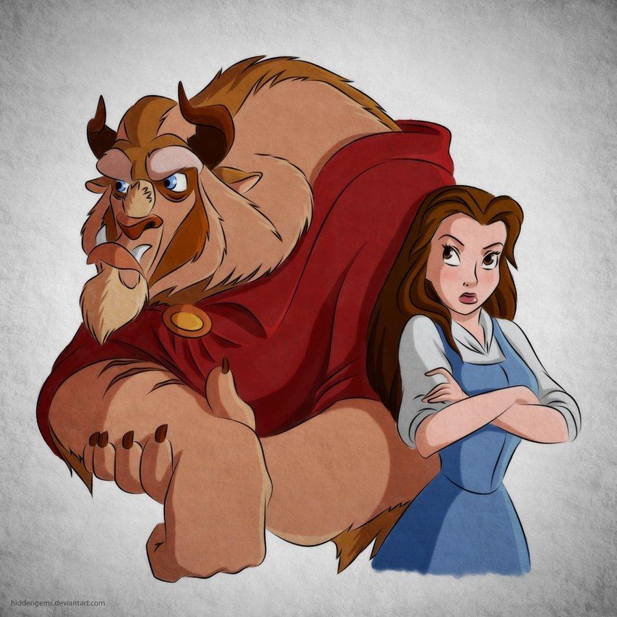 Смешные картинки про красавицу и чудовище, словами