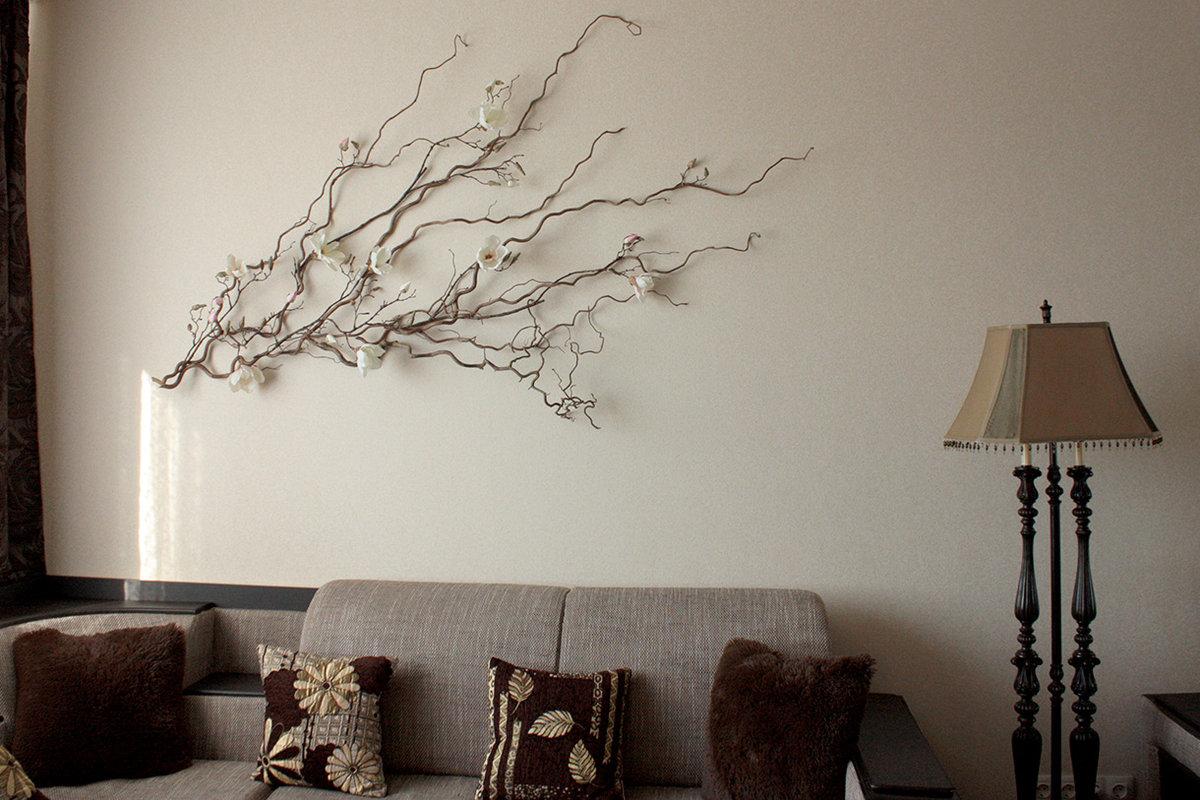 декорирование стены картинками правило, это смесь