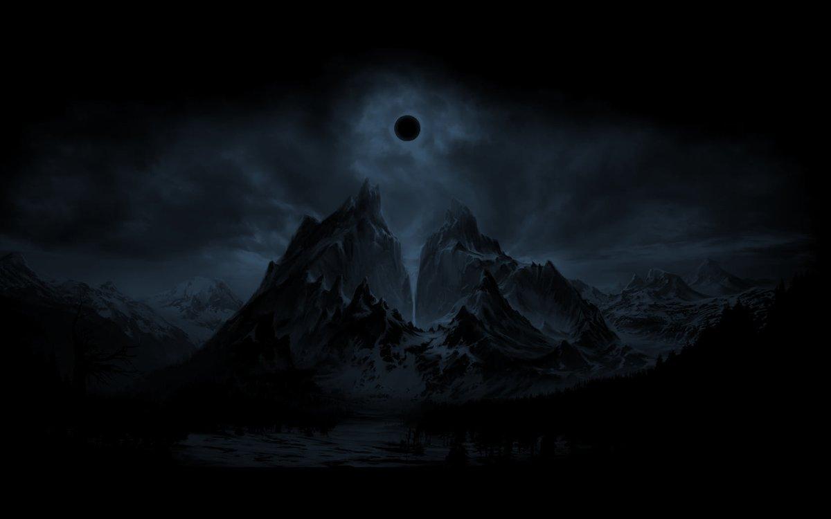 обратной мрачные ночные горы картинки табличках
