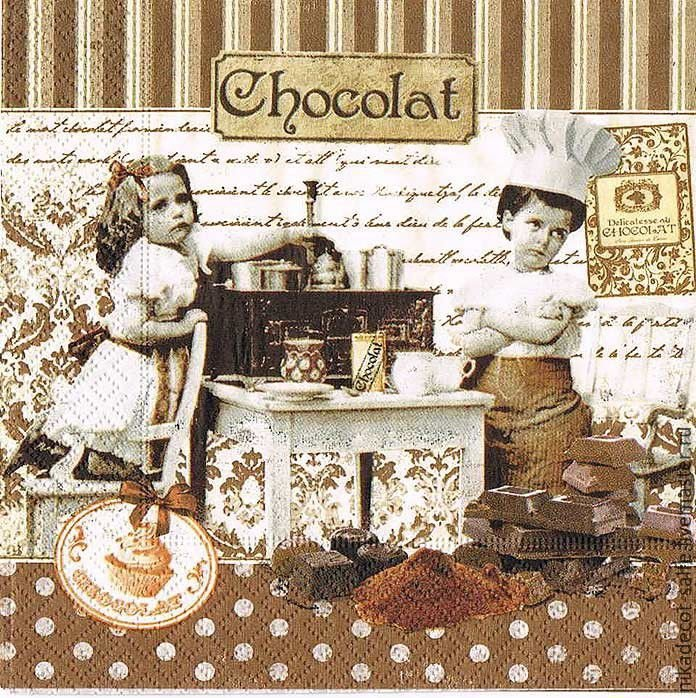 шоколадные картинки декупаж