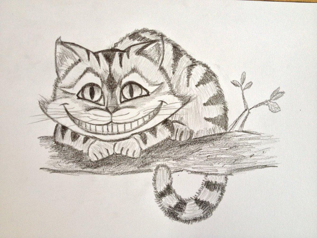 чеширский кот из алисы в стране чудес картинки карандашом поражения этим паразитом