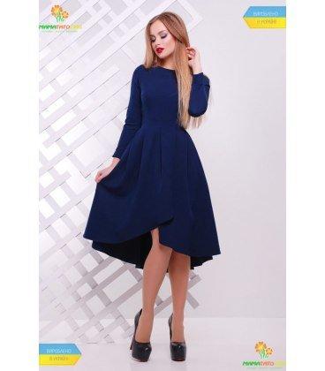 Нарядний жіночий одяг недорого ➤ нарядна сукня з рукавом три чверті та  пишною асиметричною спідницею ☑ 6d8b30ad7a560