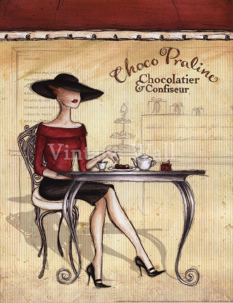 картинки для декупажа кофе в париже