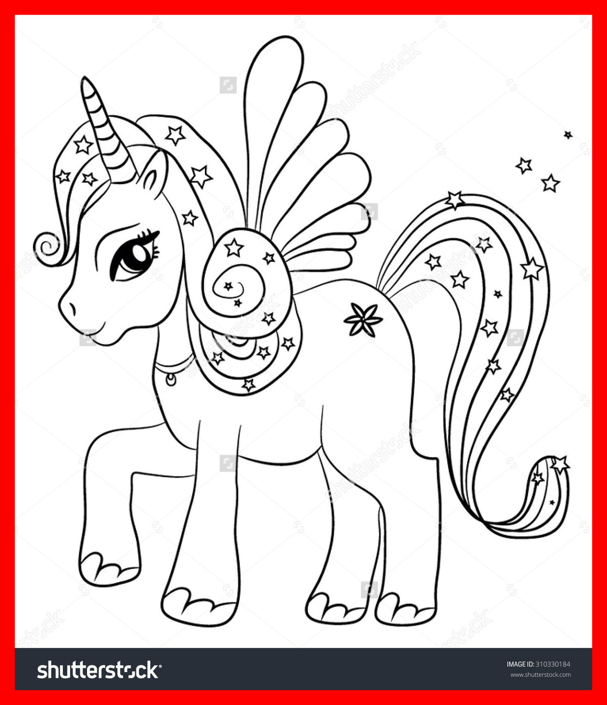 Kawaii unicorn with wings coloring pages getcoloringpages