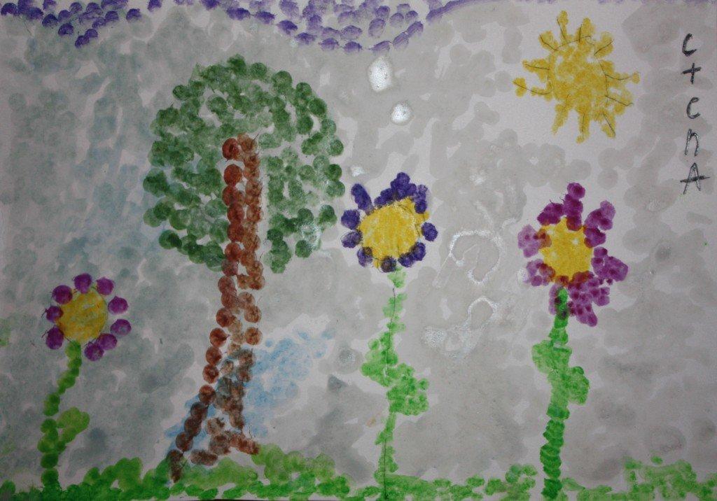 картинки рисование ватными палочками в доу астра цветок, который