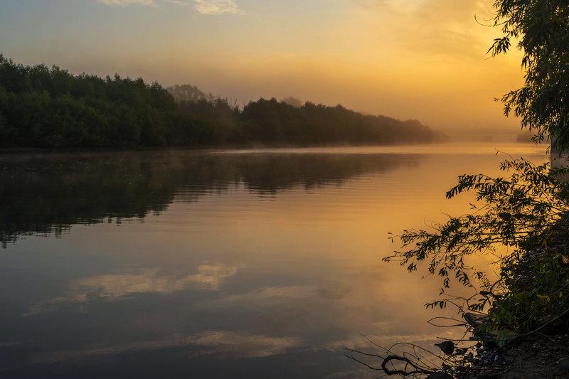 Утро туманное на реке Болде