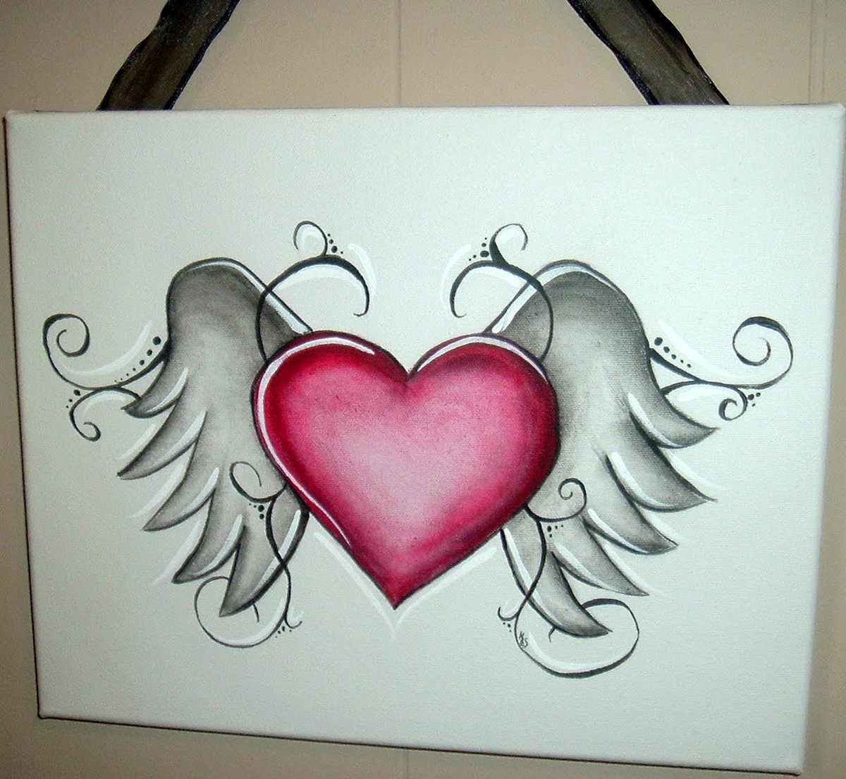 Pencil pictures of hearts pencil sketch heart pencil drawings of hearts with wings and banners