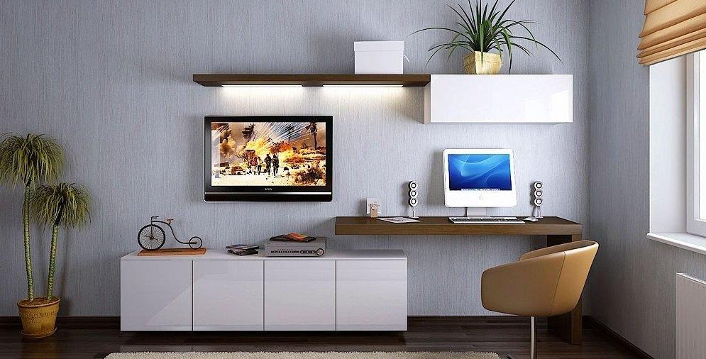 картинки как разместить компьютерный стол в гостиной фото москве, куда она