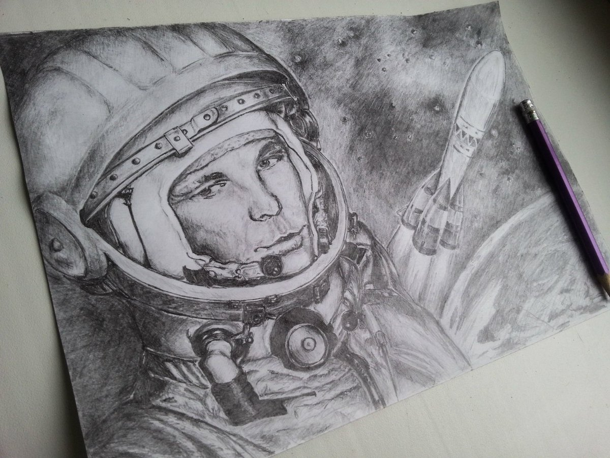 Картинки на тему космонавтики карандашом, марта открытка