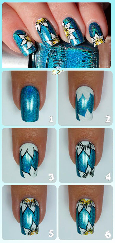 Дизайны ногтей картинки пошагово